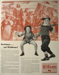 1944 Wilson Sports Equipment Ad ~ Pilgrims