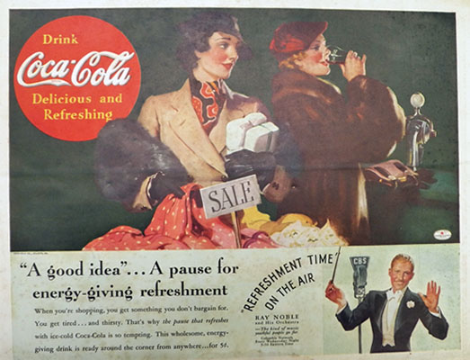 1936 Coca Cola Coke Ad ~ Bargain Hunting