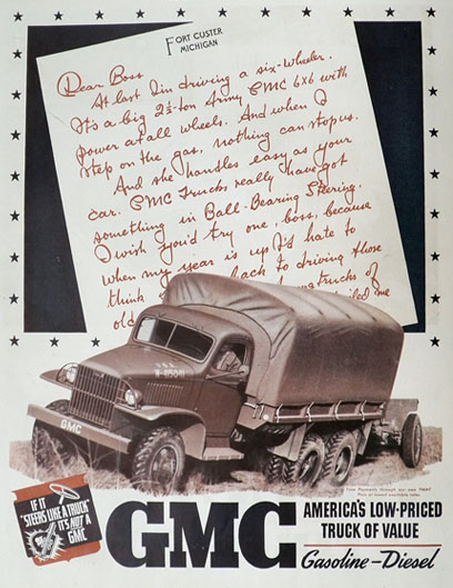1941 GMC Military Army Truck Ad