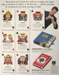 1954 Congress & Bicycle Playing Cards Ad ~ Break the Seal