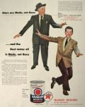 1954 Havoline Motor Oil Ad ~ Jimmy Durante & Donald O'Connor