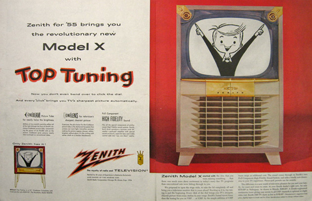 1955 Zenith Model X Television TV Ad