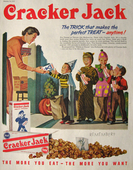 1955 Vintage Cracker Jacks Halloween Ad