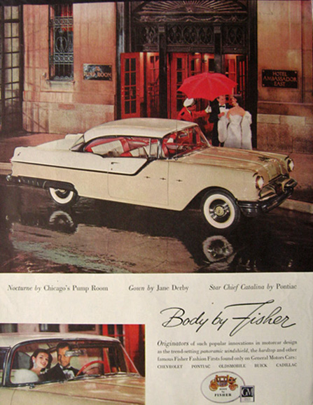 1955 Pontiac Star Chief Catalina Ad ~ Pump Room, Chicago