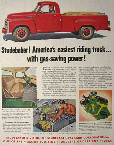 1955 Studebaker Truck Ad ~ Easiest Riding