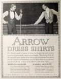 1914 Arrow Dress Shirts Ad ~ Men Play Billiards