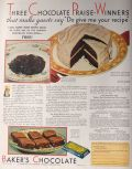 1932 Baker's Chocolate Ad ~ Ambassador Chocolate Cake