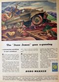 "1944 WWII Borg-Warner Ad ~ ""Jesse James"" M-8 Tank"