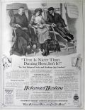1913 Holeproof Hosiery Ad ~ Nicer Than Darning Hose