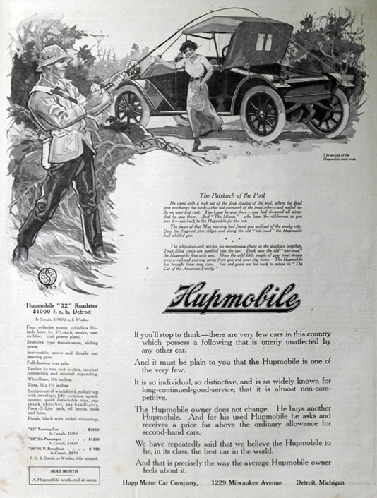 "1913 Hupmobile ""32"" Roadster Ad"