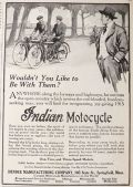 1915 Indian Motorcycle Ad ~ Wouldn't You Like to Be With Them?