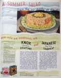 1932 Knox Gelatine Ad ~ Crabmeat Salad Recipe