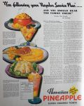 1932 Hawaiian Pineapple Ad ~ Baked Pineapple Tomotoes