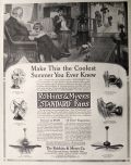 "1913 Robbins & Myers ""Standard"" Electric Fan Ad ~ Coolest Summer"