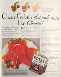 1932 Royal Gelatin Ad ~ Cherry Monarch Recipe