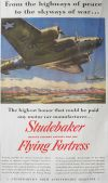 1942 WWII Studebaker Ad ~ Flying Fortress