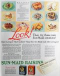 1932 Sunmaid Raisins Ad ~ Cupcake Recipe