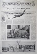 1902 Where the Circus Starts From Illustrated Article