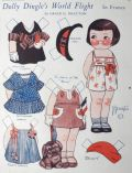 1932 Dolly Dingle Paper Dolls ~ Dolly's World Flight in France