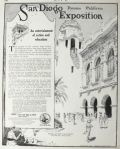 1914 San Diego Expo Ad ~ California Counties Building