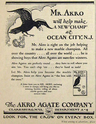 1929 Akro Agate Marbles Ad Vintage Toy Amp Game Ads
