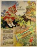 1928 Wrigley's Double Mint Gum Ad ~ Mother Goose Miss Muffet