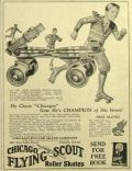 1931 Chicago Flying Scout Roller Skates Ad