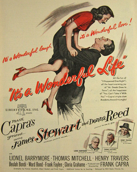 1947 Movie Ad ~ It's a Wonderful Life