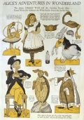 1922 Paper Doll Cut-Out ~ Alice's Adventures in Wonderland