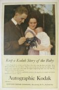 1917 Autographic Kodak Ad ~ Kodak Story of the Baby