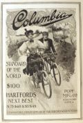 1897 Pope Mfg. Columbia Bicycle Ad ~ Couple on Bikes