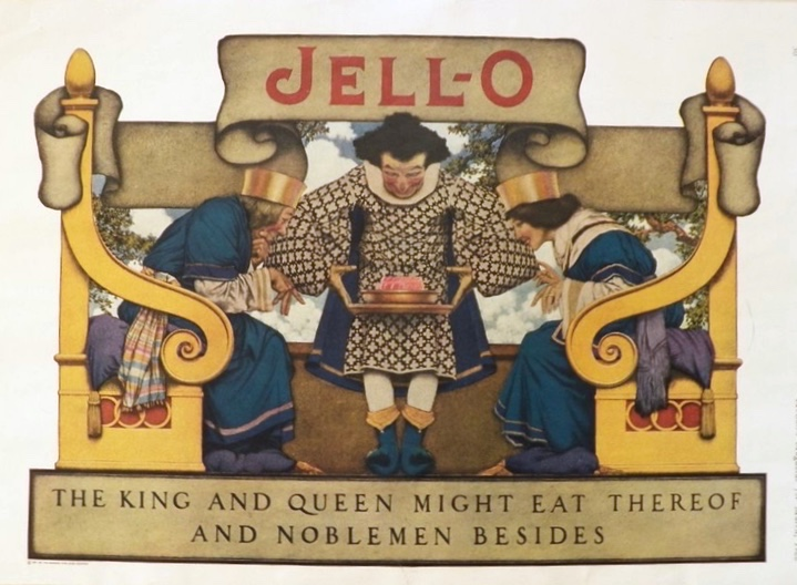 1922 Jello Ad ~ Maxfield Parrish ~ King & Queen