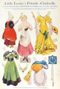 1909 Original Paper Dolls Sheet ~ Little Louise's Frienda—Cinderella
