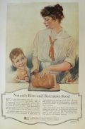 1917 Bemis Bags Ad ~ Mom Slices Bread
