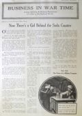 1918 WWI Illustrated Article ~ A Girl Works Behind the Soda Counter