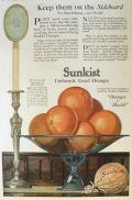 1917 SUnkist Oranges Ad ~ Keep Them on the Sideboard