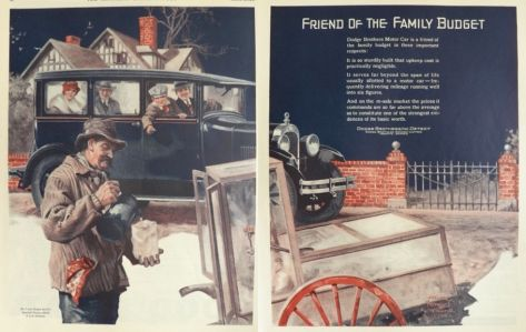 1927 Dodge Car Ad ~ Friend to the Family Budget
