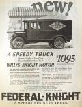 1924 Federal Knight Truck Ad ~ Blue Valley Butter Truck