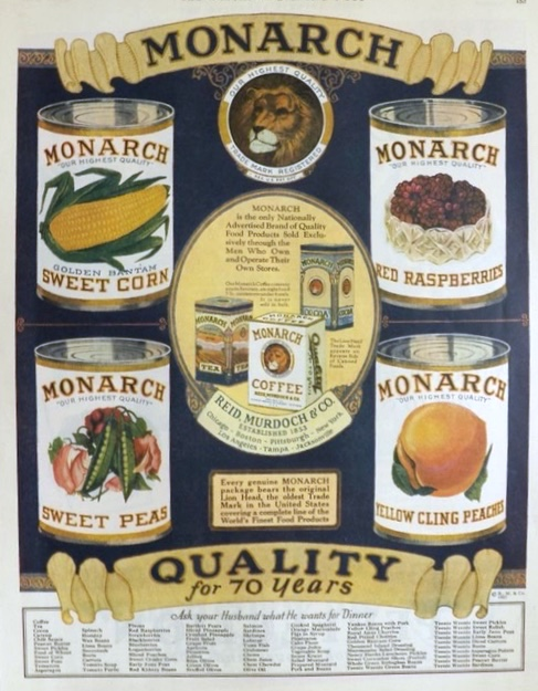1927 Monarch Canned Food Ad