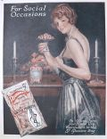 1921 Planters Pennant Peanuts Ad ~ For Social Occasions