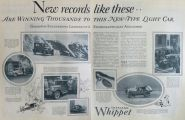 1927 Overland Whippet Car Ad with Photos