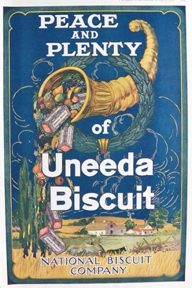 1919 National Biscuits Uneeda Biscuit Ad ~ Peace & Planty