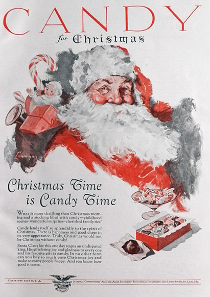 1927 Candy Ad ~ Christmas Time is Candy Time