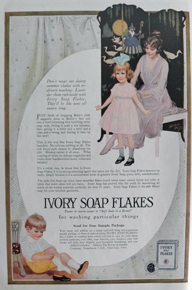 1920 Ivory Soap Flakes Ad Norman Price Art