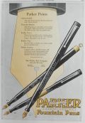 1920 Parker Fountain Pens Ad ~ Lucky Curve