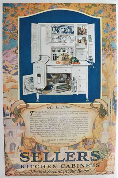 1920 Sellers Kitchen Cabinet Ad An Invitation Vintage Household Ads