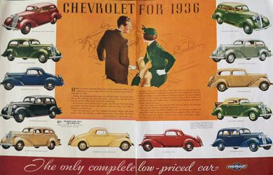 1936 Chevy Ad ~ Full Line of Styles