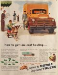 1949 Dodge Truck Ad ~ Low Cost Hauling