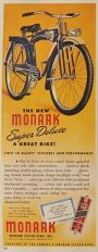 1947 Vintage Monark Bicycle Ad ~ A Great Bike!