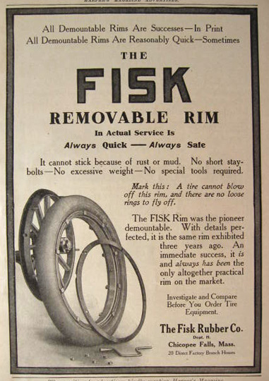1911 Fisk Removable Rims Ad
